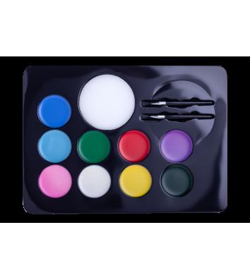Краски для лица 9 цветов, Zibi