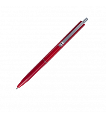 Ручка кулькова автоматична Logo2u, корпус червоний, колір чорнил синій 0,7мм, Buromax