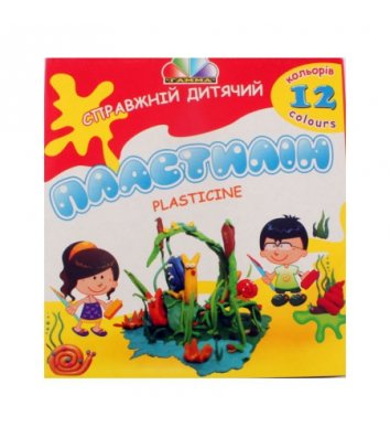 """Пластилин 12 цветов 240г """"Увлечение"""", Гамма"""