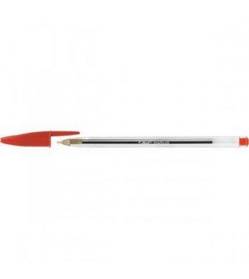 Ручка шариковая Cristal, цвет чернил красный 0,4мм, Bic