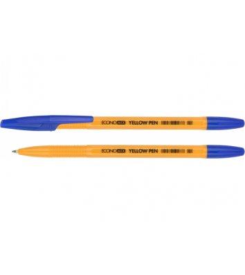 Ручка шариковая Yellow Pen, цвет чернил синий 0,5мм, Economix