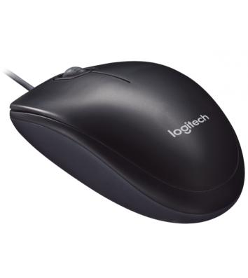 Миша комп'ютерна дротова чорна, Logitech M90 Optical USB
