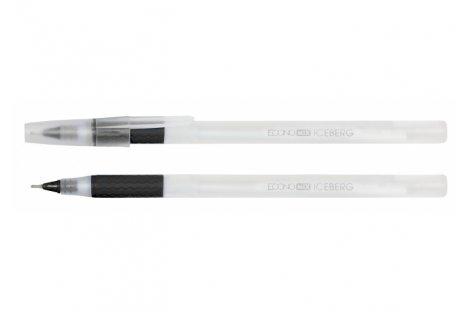 Ручка масляна Iceberg, колір чорнил чорний 0,7мм, Economix