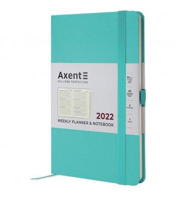 Щотижневик датований 2021 Partner Strong 125*195мм бірюзовий, Axent