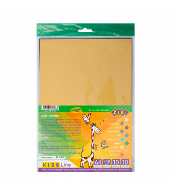 Папір кольоровий оксамитовий А4 10арк 10 кольорів, Zibi