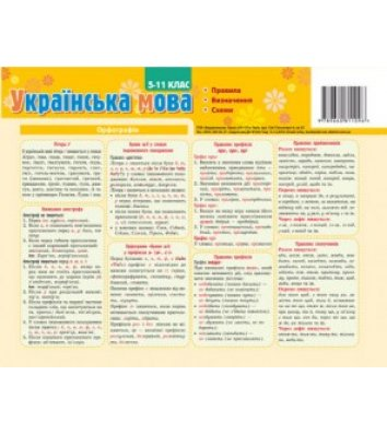Карточка-подсказка Украинский язык 5-11 класс, Зірка