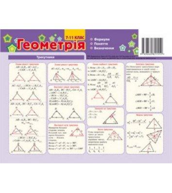 Картка-підказка Геометрія 7-11 клас, Зірка
