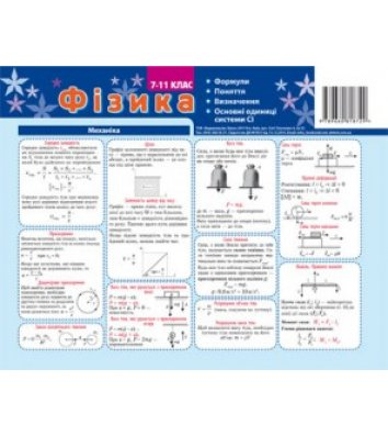 Карточка-подсказка Физика 7-11 класс, Зірка