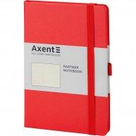 Діловий записник А5 96арк в крапку Partner червоний, Axent