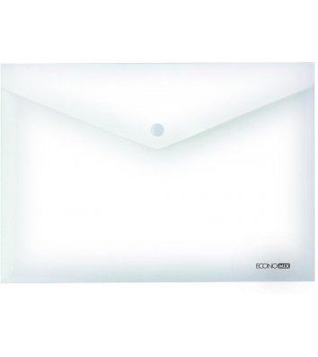 Папка-конверт А4 на кнопці пластикова прозора, Economix