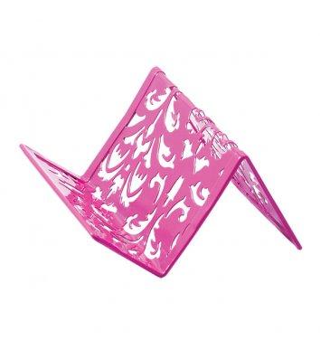Підставка для візиток Barocco металева рожева, Buromax