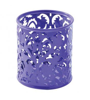 Подставка канцелярская Barocco металлическая фиолетовая, Buromax