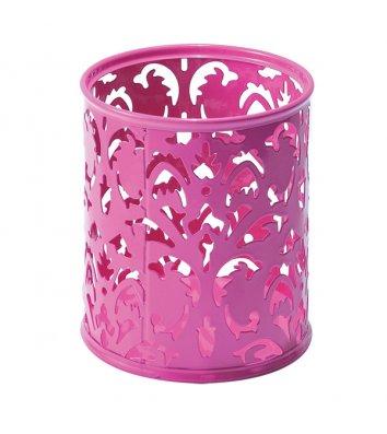 Подставка канцелярская Barocco металлическая розовая, Buromax