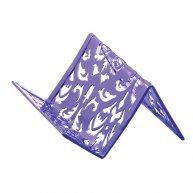 Підставка для візиток Barocco металева фіолетова, Buromax