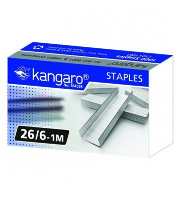 Скобы для степлера №26/6 1000шт, Kangaro