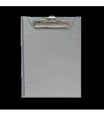 Планшет-папка А5 с прижимом PVC серый, Buromax