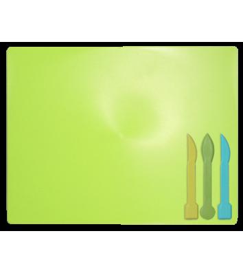 Набор для лепки: доска, 3 стека салатовый, Zibi