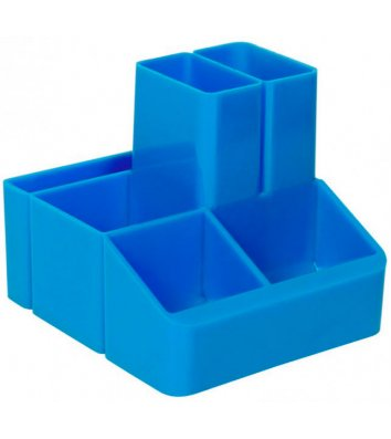 Підставка канцелярська пластикова синя СТРП-04, Кип