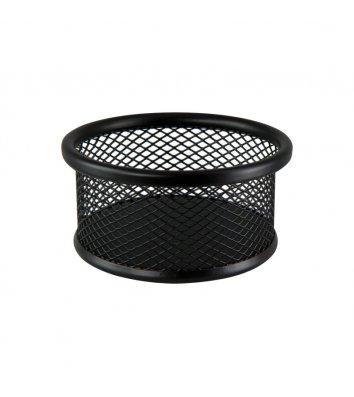 Подставка для скрепок металлическая черная, Buromax