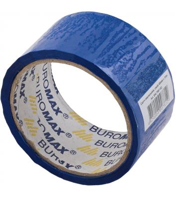 Скотч 48мм*35м упаковочный синий, Buromax