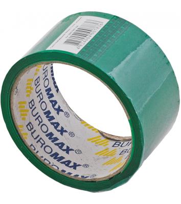 Скотч 48мм*35м упаковочный зеленый, Buromax