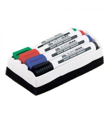 Набор 4 маркеров для досок с губкой, Buromax