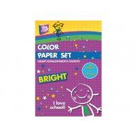 Папір кольоровий односторонній А4 14арк 7 кольорів, Cool for School