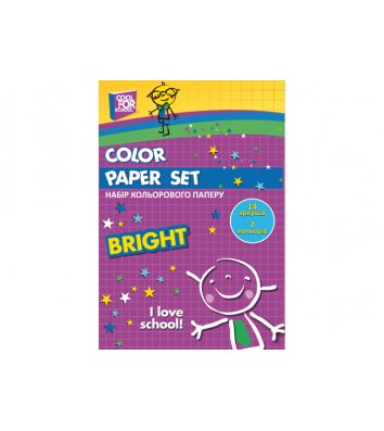 Бумага цветная односторонняя А4 14л 7 цветов, Cool for School