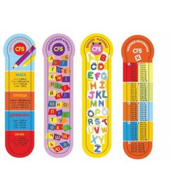 """Закладки пластиковые для книг 4шт """"Education"""", Cool for School"""