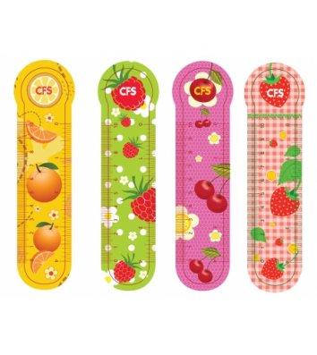 """Закладки пластиковые для книг 4шт """"Fruit"""", Cool for School"""