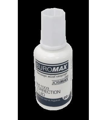 Корректирующее жидкость 20 мл с кисточкой, Buromax