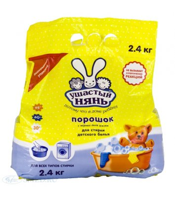 Засіб для прання Вухастий Нянь 2,4кг дитячий