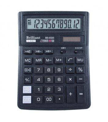 Калькулятор 12 розрядів 143*192*39,5мм, Brilliant