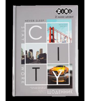 """Щоденник шкільний В5 48арк тверда обкладинка """"City"""", Zibi"""