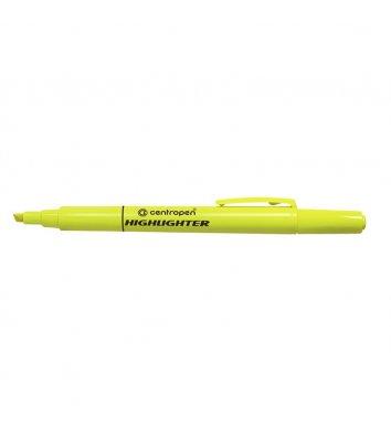 Маркер текстовий Fax, колір чорнил жовтий 1-4мм, Centropen