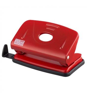 Діркопробивач  10арк корпус металевий колір червоний, Buromax