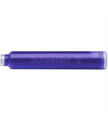 Патрон к перьевой ручки 6шт цвет чернил синий, Schneider