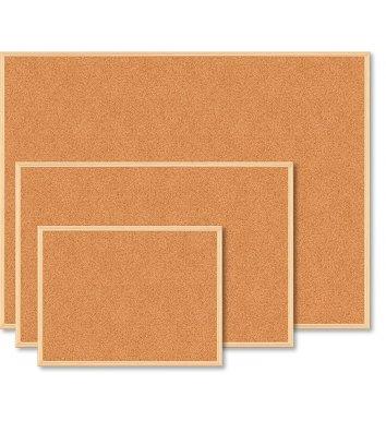 Доска пробковая 60*90см, деревянная рамка, Buromax