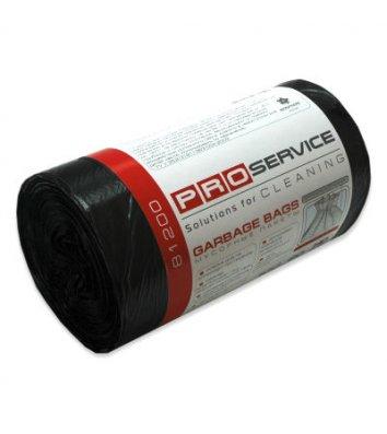 Пакет для мусора 120л/10шт 70*110см черный, PRO Service