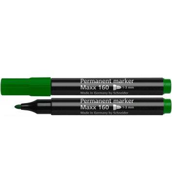 Маркер перманентный Maxx 160, цвет чернил зеленый 1-3мм, Schneider