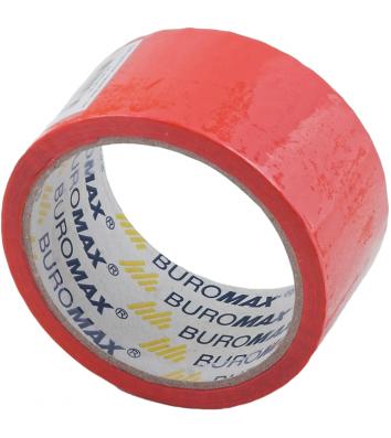 Скотч 48мм*35м упаковочный красный, Buromax