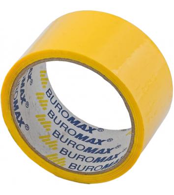 Скотч 48мм*35м упаковочный желтый, Buromax