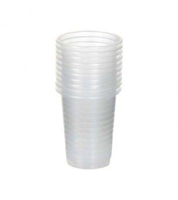 Стаканы одноразовые пластиковые 200мл 100шт, прозрачные