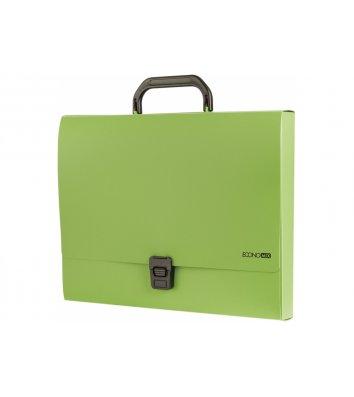 Портфель А4 пластиковий на застібці 1 відділення салатовий, Economix