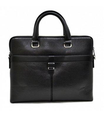 Портфель мужской кожзам черный 6831, Bonis