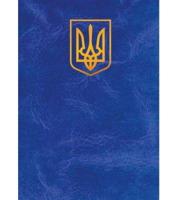 """Папка на подпись А4+ балакрон синяя """"Герб"""", Скат"""