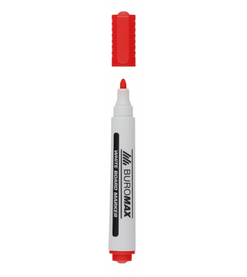 Маркер для досок, цвет чернил красный 2-4мм, Buromax