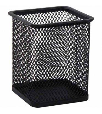 Подставка канцелярская металлическая черная, Buromax