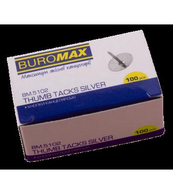 Кнопки нікельовані 100шт, Buromax