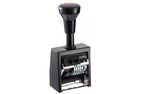 Нумератор 6 розрядів 4,5 мм автоматичний пластиковий корпус шрифт-block, Reiner